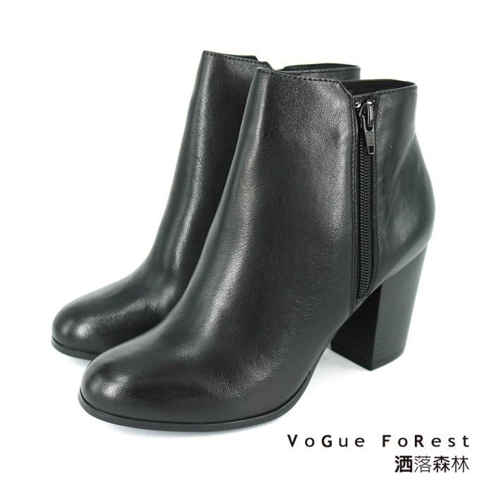 【短靴】時尚粗跟短靴 -3398002 黑色 / 原價 5280元