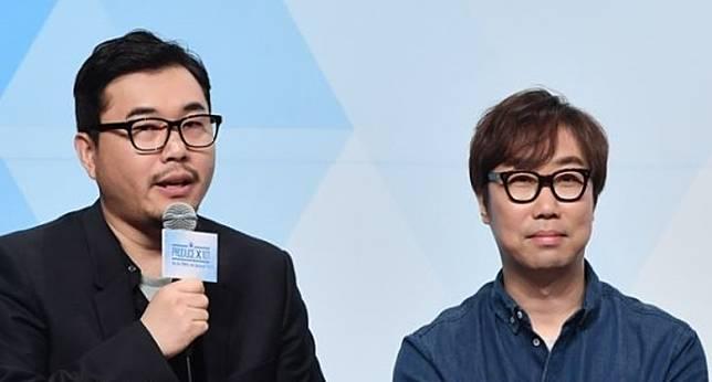 安俊英(右)與金容範早前因涉詐騙及受賄等而被拘留調查。