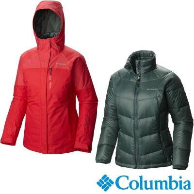 外套Omni-TECH超防水透氣科技內夾650 TurboDown夾克;550F羽絨+100g 儲熱纖維+ 自體熱能科技襯底可調式固定兜帽、腋下通風拉鍊附雪裙設計、大口袋可收納雪鏡