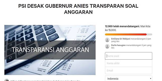 Bidik layar Change.org