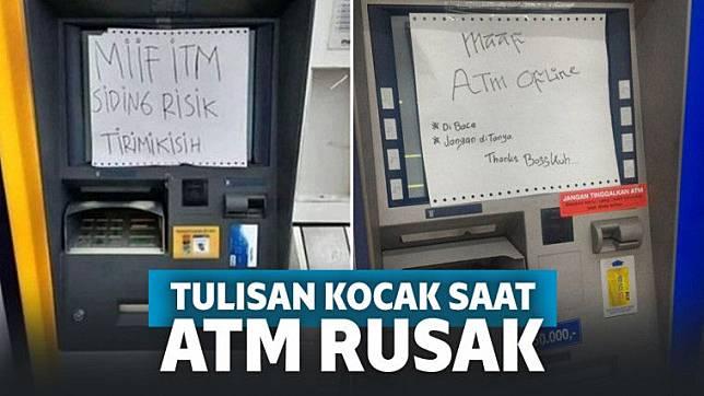 Tulisan Kocak di Mesin ATM Rusak