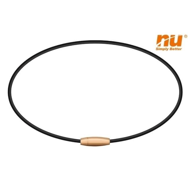 【恩悠數位】NU 鈦鍺能量精品 Apollo 鈦鍺能量項鍊(玫瑰金_40cm)