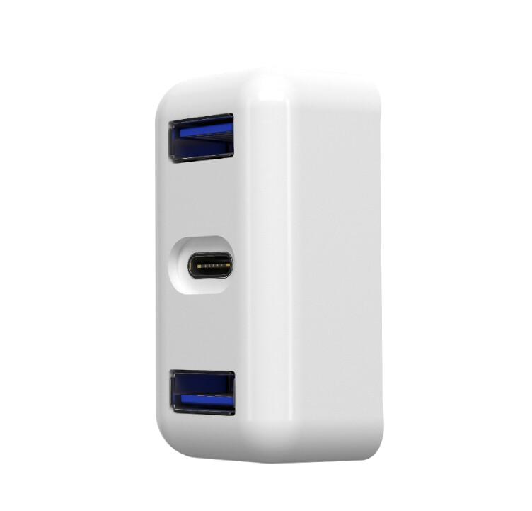 apple macbook 充電頭專用插座擴充轉接器 type-c USB 1轉3 30W USB-C 電源轉接器專用 本店保固3個月 產品概述: 這款產品是充電銜接站,應用於帶type-c介面的電腦