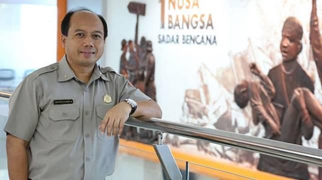 Kepala Pusat Data dan Informasi Humas Badan Nasional Penanggulangan Bencana (BNPB) Sutopo Purwo Nugroho. (Risna Halidi/Suara.com)