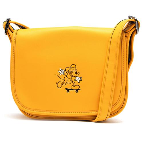 COACH 迪士尼聯名翻蓋斜背包-黃色