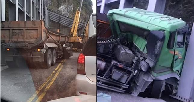 蘇花公路砂石車自撞山壁 駕駛當場截肢命危中