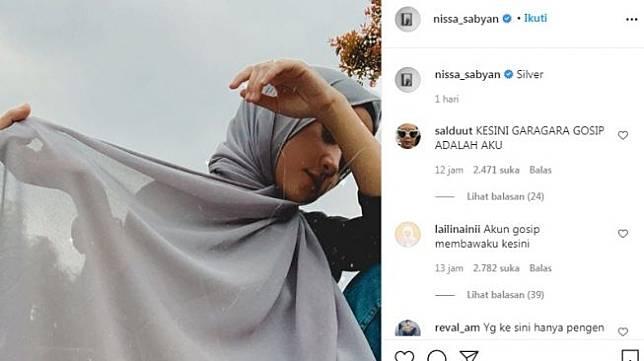 Unggahan Nissa Sabyan [Instagram/@nissa_sabyan]