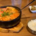 プデチゲ定食 - 実際訪問したユーザーが直接撮影して投稿した歌舞伎町韓国料理和豚焼肉 サムギョプサル 黒毛和牛ハヌリ新宿歌舞伎町ゴジラ通り店の写真のメニュー情報