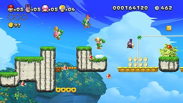 角色有Yoshi的小翅膀加持下,能有飛翔的能力。