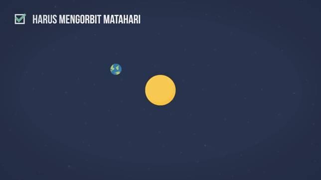 Syarat pertama biar jadi planet, harus muterin matahari. Kalo ngga bisa gimana, ya bukan Planet namanya!