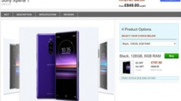 Sony Xperia 1 售價、發售日英國零售商搶先公布