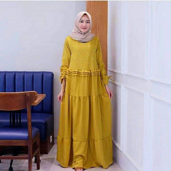8 Padu Padan Hijab Dan Gamis Warna Earthy Tone Untuk Baju Lebaran Yang Kalem Womantalk Com Line Today