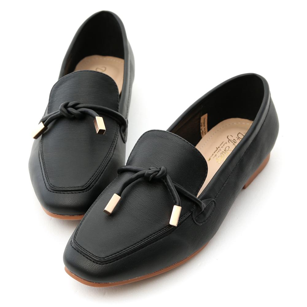 D+AF 好感輕著.小金飾綁結柔軟樂福鞋