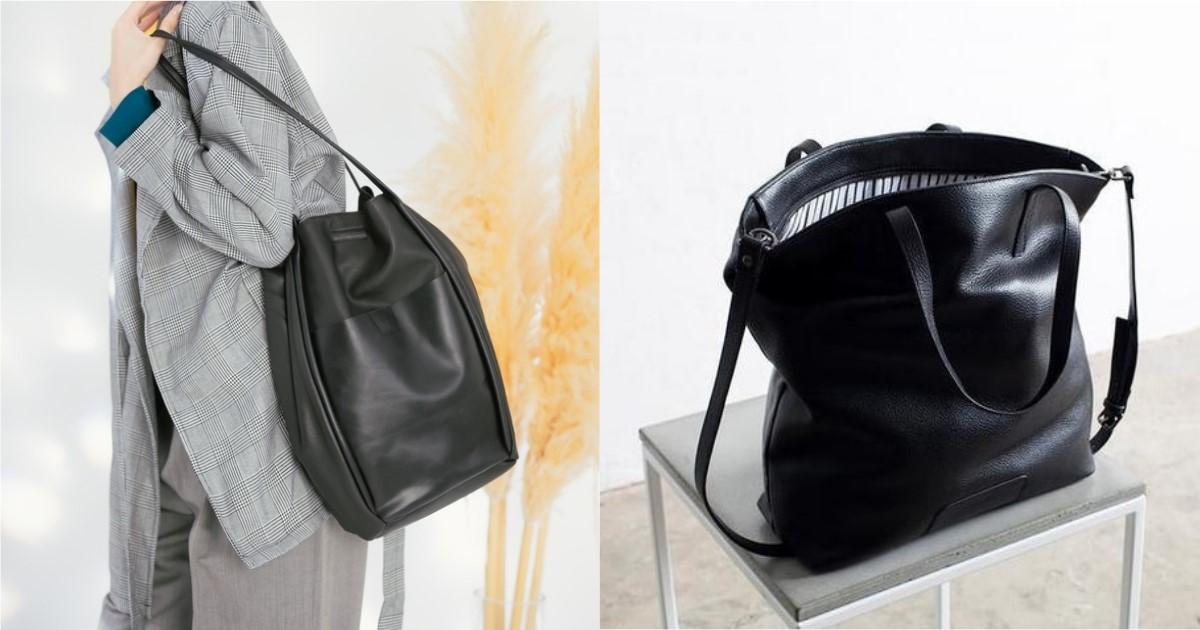 放得進筆電就是大包的容量標準!百搭耐用的黑色系真皮大包單品4選