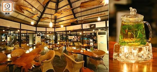 晚上可到農場的伊魯巴船屋酒吧,歎杯花茶或美酒才去睡。(劉達衡攝)