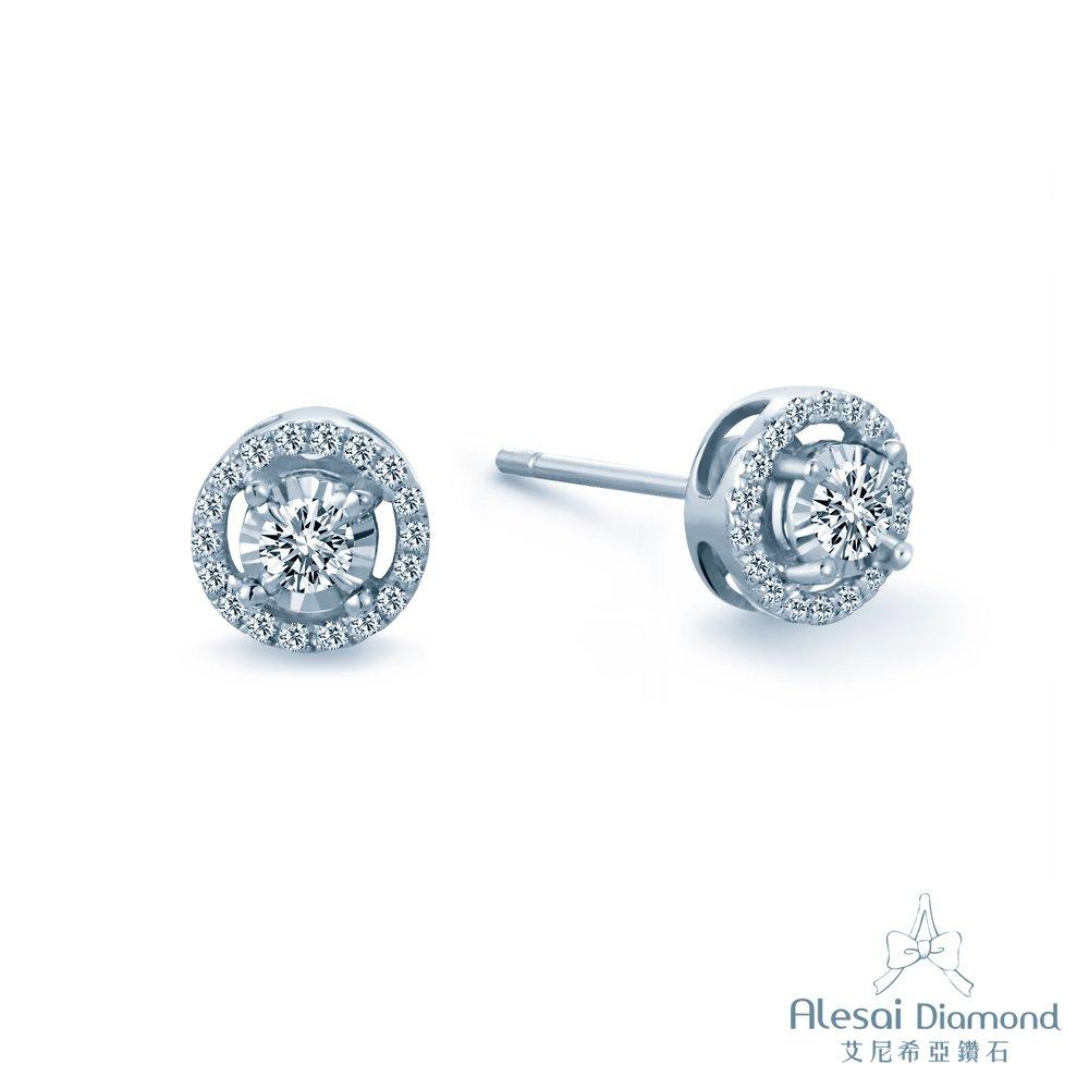 ◆天然圓明亮型鑽石◆鑽石重量耳環一對共計0.27克拉◆鑽石顏色/淨度:F-G/VS◆鑽石車工(Cut):GOOD UP◆材質:手工訂製珠寶14K