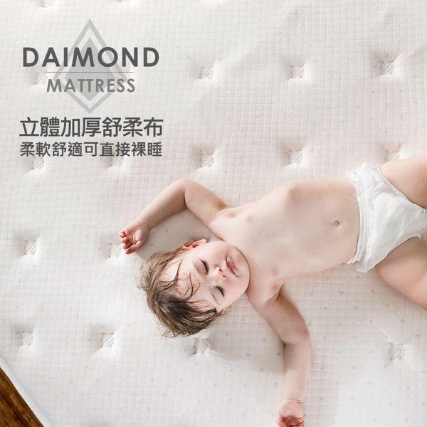 King size 雙人特大床墊 MONET晶鑽三線五段式乳膠獨立筒無毒床墊[雙人特大6×7尺]【obis】