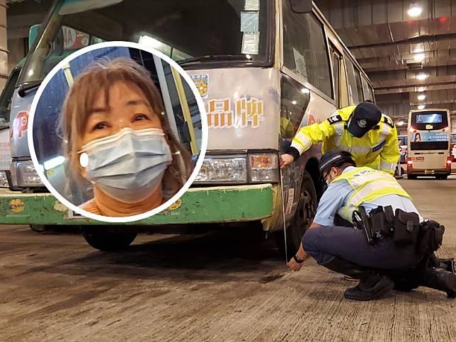 潘小姐指,涉事司機昨致電屯門小巴總站,形容思維很清晰,稱被「大車壓到」將小巴停於路旁。
