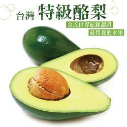 愛上水果 台灣特級酪梨*1箱(6-8顆/5台斤/箱)