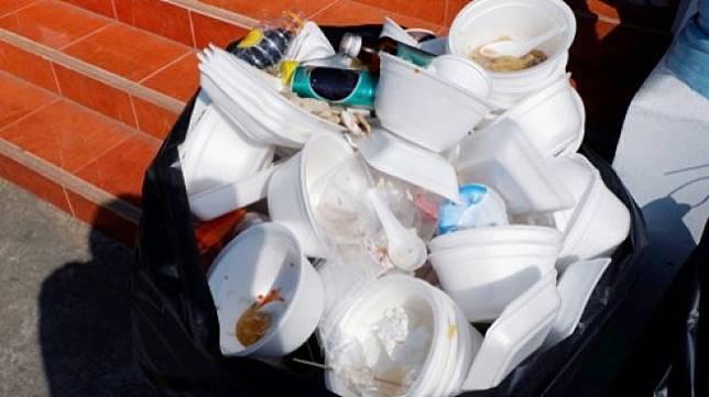 Ilustrasi sampah styrofoam. (Shutterstock)
