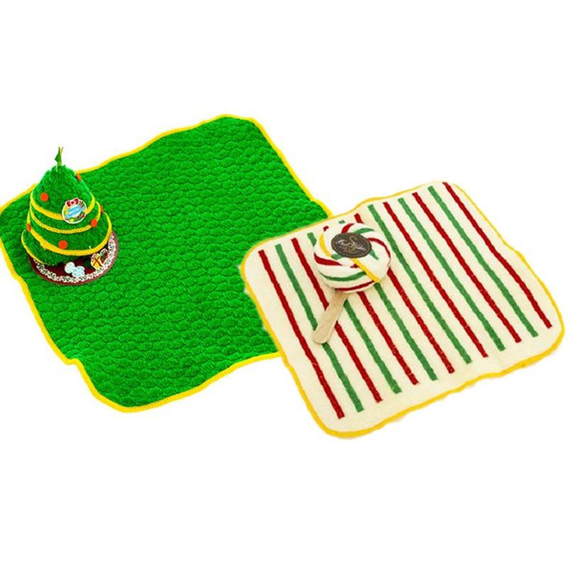 【台灣興隆毛巾】聖誕小樹&聖誕棒棒糖