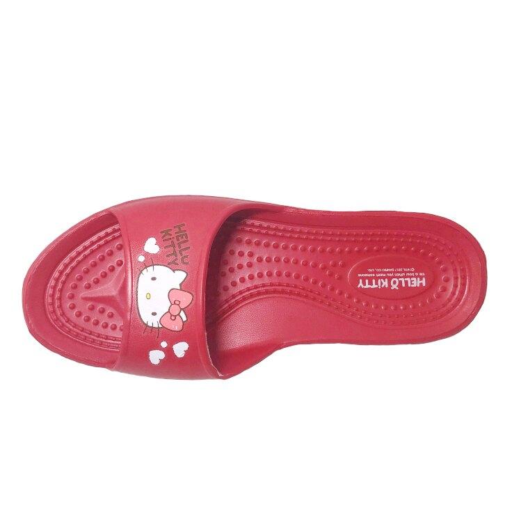 HELLO KITTY三麗鷗 女款防水室內拖鞋 [608] 紅【巷子屋】