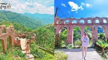 這在台灣!美麗的天空之城,山頂上的紅磚樓牆,真是秘境不誇張!