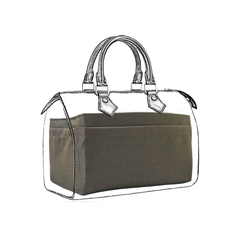 CoolgDesign名牌包整理袋 LV Speedy 25專用內層收納袋中袋 袋中袋收納包平面款的優點是內層有八格收納格、外層有五格平面收納袋,中間還有超大收納空間,外平面的設計讓在意包包外型的朋友