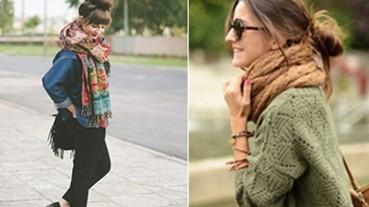 女孩冬天也要綁丸子頭!這是圍巾與高領的加分關鍵