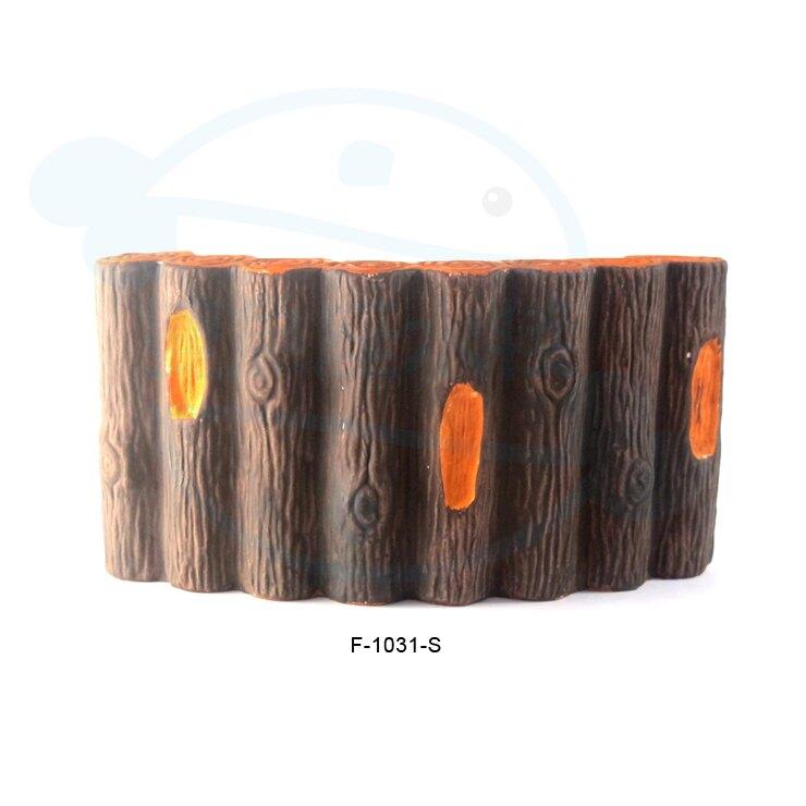 ★ 雙魚座水棧 ★【F-1031-S 木圍牆-小款】 水族箱裝飾 魚缸造景 磚塊 木頭 木橋 園藝 魚蝦躲藏