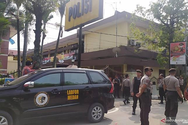 Bom Medan, satu personel Polrestabes terluka