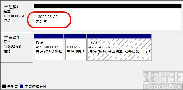 IronWolf 14TB 未格式化容量約為 13038.88GB/12.73TB