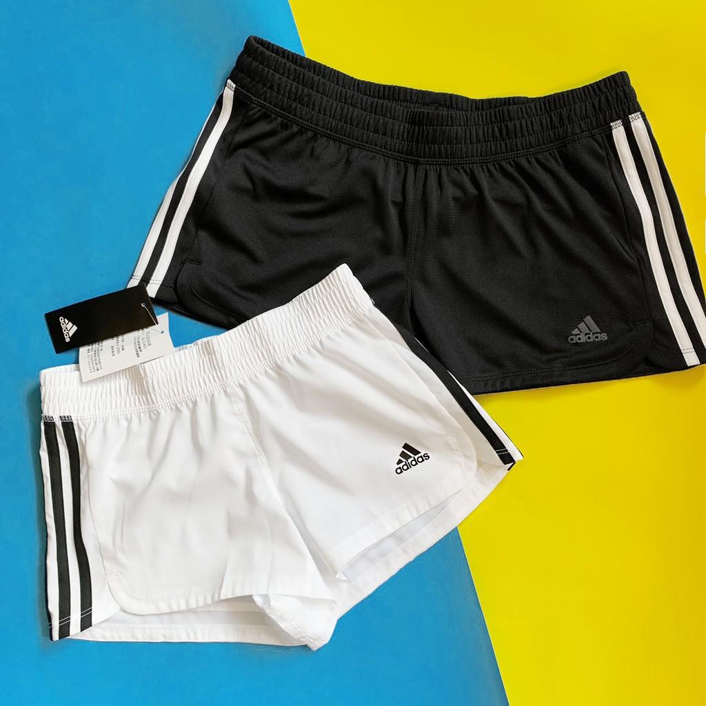 ADIDAS PACER 3S WVN 黑白 白黑 三條線 跑步 運動短褲 熱褲 真理褲 女款 DU3502 DOT聚點