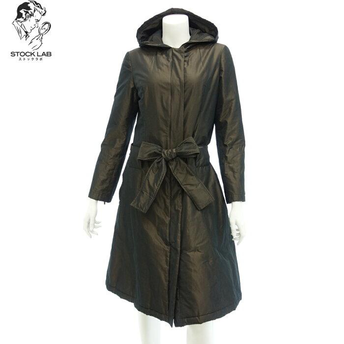 FOXEY fokushi 18512食物从属于的中棉大衣喇叭形蝴蝶结皮带40茶女士