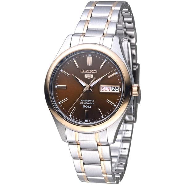 SEIKO 完美情人自動機械腕錶/巧克力色(SNK878J1)