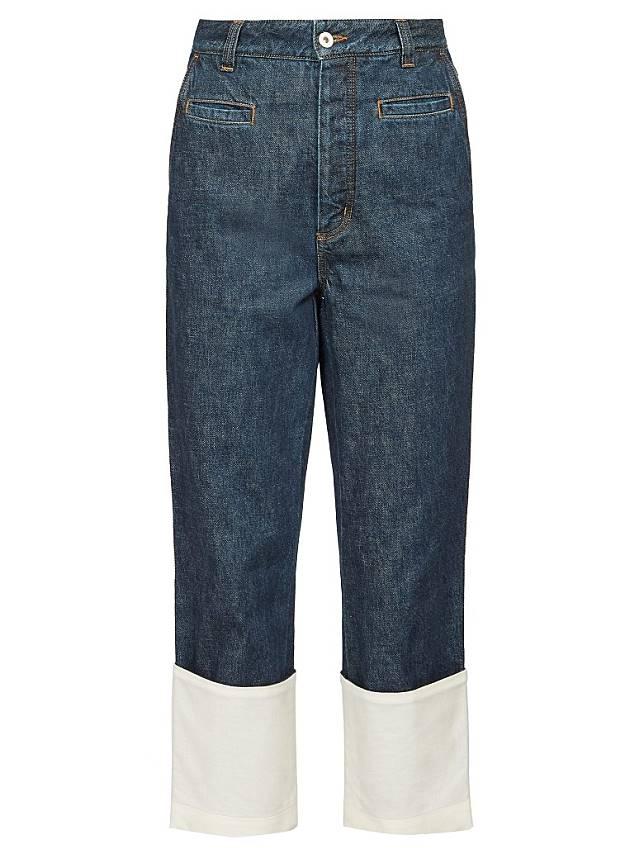LOEWE深藍色摺腳牛仔褲(互聯網)