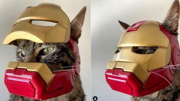 不顧主子感受的鋼鐵人頭盔