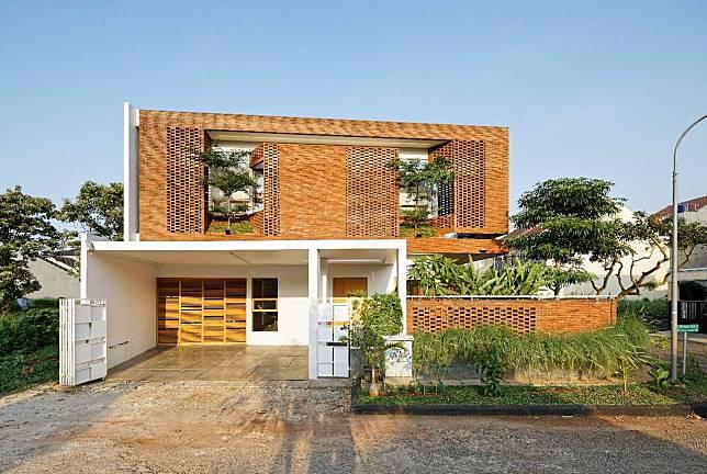 Arsitektur Rumah Minimalis dengan Permainan Batu Bata Super Keren