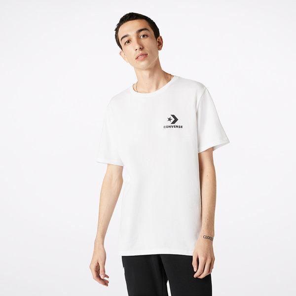 CONVERSE-休閒短袖上衣 白-NO.10018234-A01