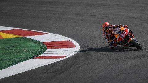 Marc Marquez akan kembali tampil di MotoGP Spanyol. (AFP/PATRICIA DE MELO MOREIRA)