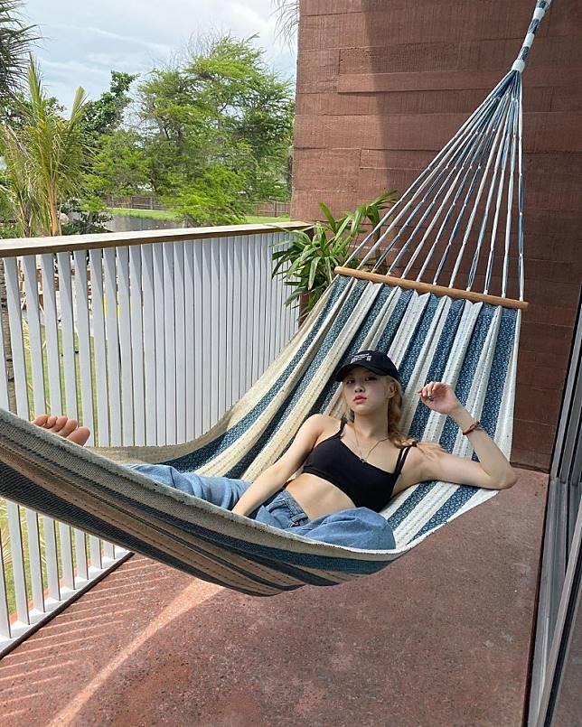 Rose日前上傳在峇里度假的照片。