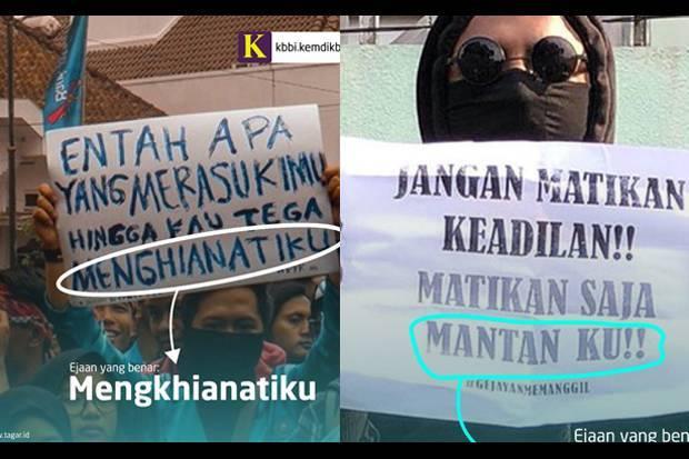 Heboh Aksi Mahasiswa Kemendikbud Koreksi Poster Demonstran