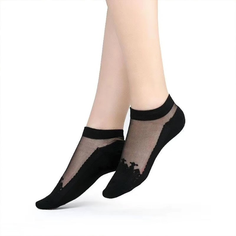 【團購組】玻璃絲水晶隱形襪 韓國 蕾絲 隱形襪【A000】