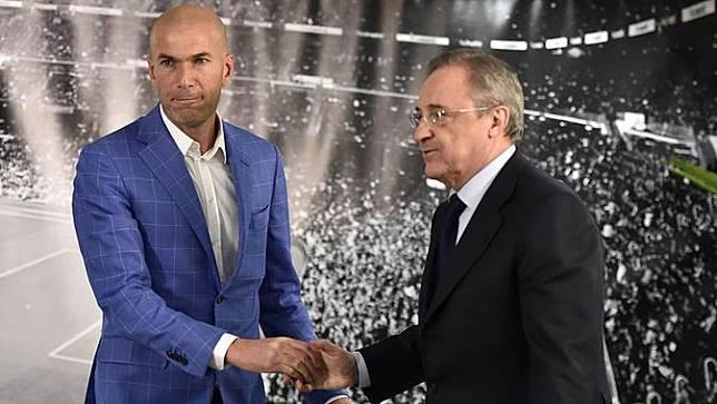 Saat Presiden Real Madrid Murka kepada Zidane dan MU
