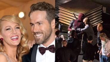 超甜!「死侍」萊恩雷諾斯片場大放閃 布蕾克·萊芙莉親吻超級英雄老公!