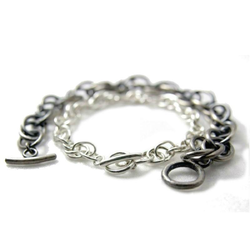 Silver Spring - 純手工焊接迴旋鍊純銀手鍊(一對)