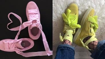 除了黑白色 Basket Heart 外,Puma 今季再推出搶眼顏色的 Suede Heart 波鞋!