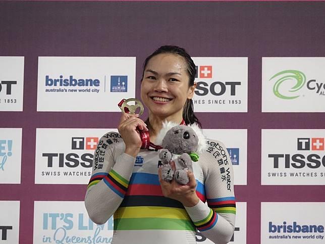 李慧詩在澳洲站奪冠,延續爭先賽18個月不敗走勢。(香港單車隊提供)