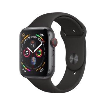 [指定店家最高23%點數回饋]Apple Watch S4 GPS版44MM-灰鋁金屬錶殼搭配黑色運動型錶帶 MU6D2TA/A