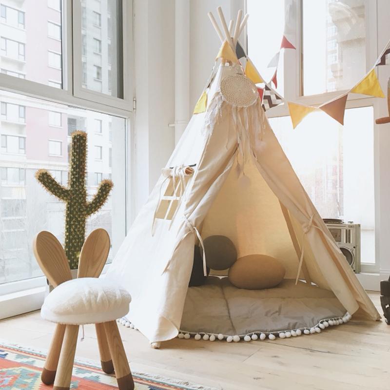 兒童室內帳篷女孩男孩過家家遊戲屋印第安風格小帳篷玩具屋公主房
